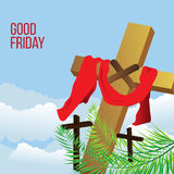 Good Friday background concept with Illustration of Jesus cross. Good Friday background concept with Illustration of Jesus cross eps Royalty Free Stock Images
