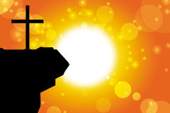 Good friday background. With jesus cross at sunset Stock Illustration
