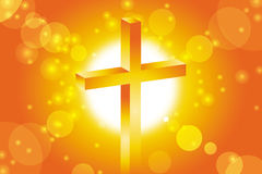 Good friday background. With jesus cross at sunset Royalty Free Illustration