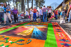 Good Friday carpet, Antigua, Guatemala Royalty Free Stock Photography