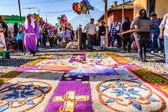 Good Friday carpet, Antigua, Guatemala Stock Photo