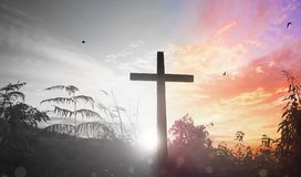 Easter Sunday concept: illustration of Jesus Christ crucifixion on Good Friday. Good Friday concept: illustration of Jesus Christ crucifixion on Good Friday Royalty Free Stock Images