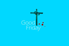 Good Friday. Cross and Crown of thorns Stock Photos