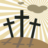 Good Friday Easter Day Crosses. Vector illustration Royalty Free Stock Photography