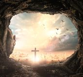 Good Friday and Easter Sunday concept stock image