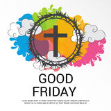 Good Friday. Illustration of a Banner for Good Friday stock illustration