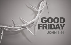 Good Friday John 3:16 Crown of Thorns 3D Rendering Stock Images