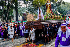Good Friday procession, Antigua, Guatemala Stock Images