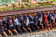 Good Friday procession, Antigua, Guatemala Stock Image