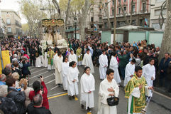 Good Friday Procession in Barcelona, Spain Royalty Free Stock Photos