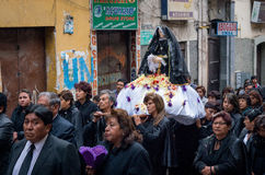 Good Friday procession in La Paz, Bolivia. Stock Images
