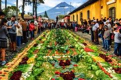 Good Friday processional carpet, Antigua, Guatemala Royalty Free Stock Photography
