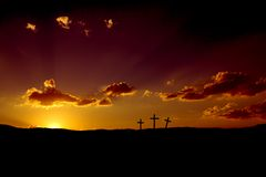 Good Friday Sunset or Easter Sunrise Royalty Free Stock Photos