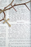 Good Friday with thorns and cross, vertical Royalty Free Stock Photography