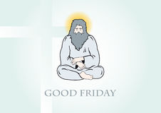 Good Friday Vector. Vector illustration of God. Religious background. Festive background with a Good Friday Stock Photo