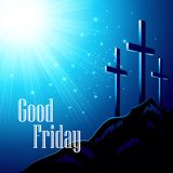 Good Friday. Vector illustration with the image of. Calvary EPS10 Royalty Free Stock Photo