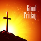 Good Friday. Vector illustration with the image of. Calvary EPS10 Royalty Free Stock Image