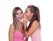 Good friends counting secrets Stock Image