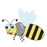 Good fun bee. On a white background Royalty Free Stock Photography