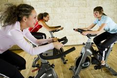 Good fun at gym Stock Images
