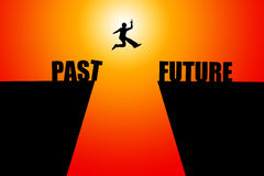 Good future. Leaving the past behind and heading for a bright future Royalty Free Stock Photos