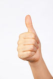 Good gesture. The good/well done/perfect gesture for success sign Royalty Free Stock Photo