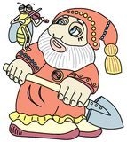 Good gnome with a shovel. Royalty Free Stock Photo