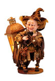 Good Goblin. Handmade doll good goblin or wizard isolated on a white background Royalty Free Stock Photo