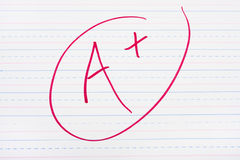 Good Grades Stock Photography