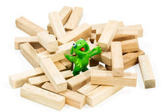 Good green plasticine monster Royalty Free Stock Images