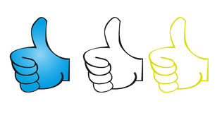 Good hands. Cartoons isolated over white background. vector Royalty Free Stock Images