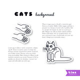 Good hands for cat  background Stock Images