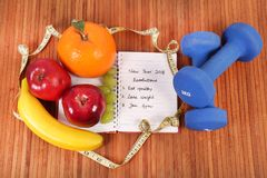 Good health. Concept shot showing good health with fresh fruits royalty free stock photo