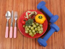 Good health. Concept shot showing good health with fresh fruits and vegetables Stock Photography