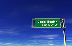 Good Health Freeway Sign Stock Photos