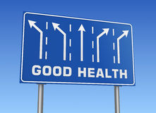 Good health road sign Royalty Free Stock Photography