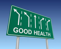Good health road sign 3d illustration Stock Photos