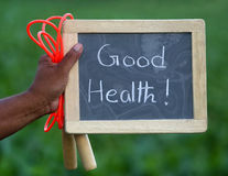 Good health with skipping Stock Image