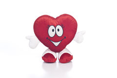 Good Heart. Plush Toy Heart with thumbs up Stock Images