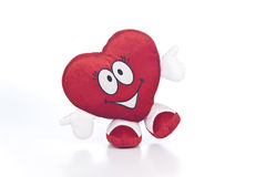 Good Heart. Plush Toy Heart with thumbs up Royalty Free Stock Images
