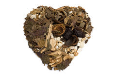 Good for heart. Chinese herbs blends Stock Image