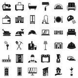 Good house icons set, simple style. Good house icons set. Simple style of 36 good house vector icons for web isolated on white background Stock Photos