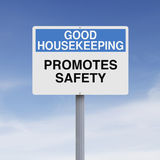 Good Housekeeping. A modified road sign on good housekeeping Stock Images