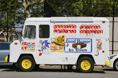 Good Humor ice cream truck in Brooklyn. BROOKLYN, NEW YORK - JUNE 15: Good Humor ice cream truck in Brooklyn on June 15, 2014.  Good Humor became a fixture in Stock Photos