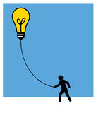 Good idea. Having a good and creative idea in business or life Stock Photography