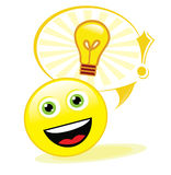 Good idea!. Emoticon has a very good idea Stock Photography