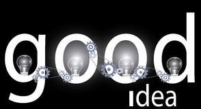 Good idea background Royalty Free Stock Photography