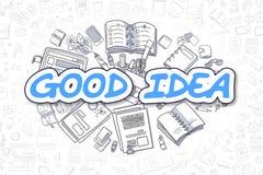 Good Idea - Doodle Blue Word. Business Concept. Stock Photo