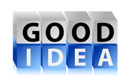 Good idea letters and cubes Stock Photo
