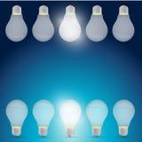 Good idea light bulb concept illustration design Stock Photography